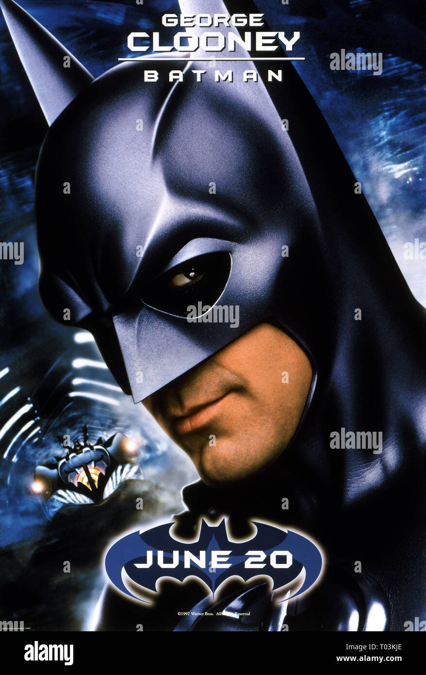 George Clooney Poster Batman And Robin 1997 Stock Photo Alamy