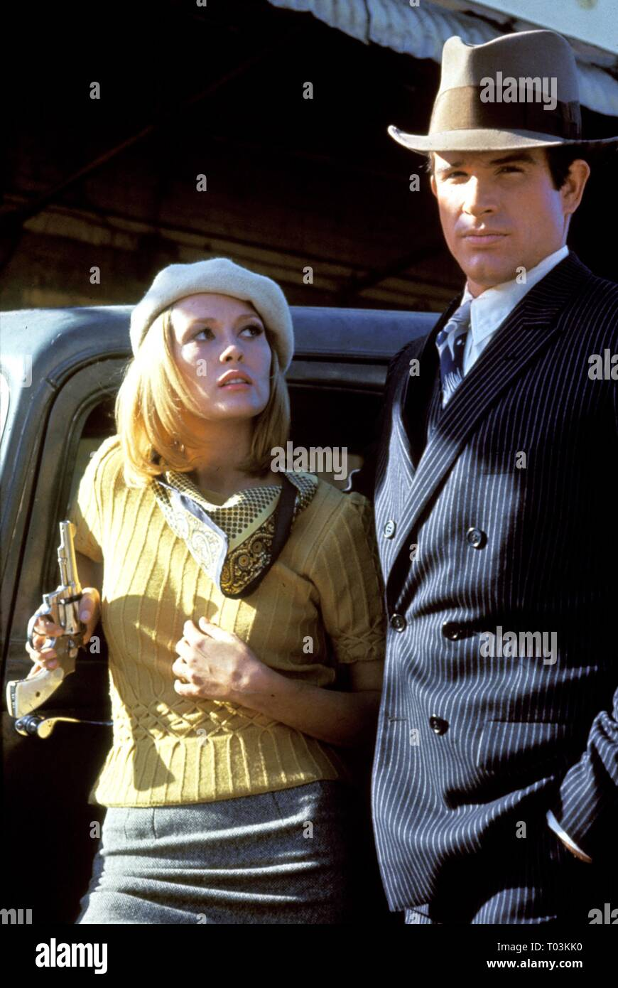 FAYE DUNAWAY, WARREN BEATTY, BONNIE AND CLYDE, 1967 - Stock Image