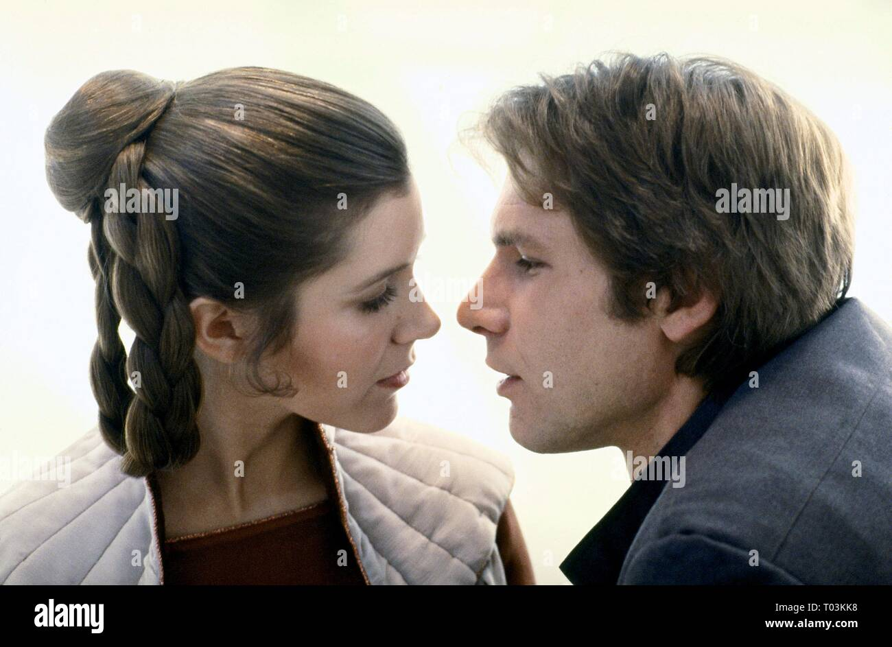 CARRIE FISHER, HARRISON FORD, STAR WARS: EPISODE V - THE EMPIRE STRIKES BACK, 1980 - Stock Image