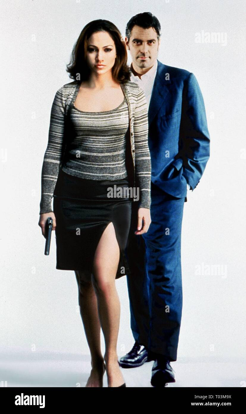JENNIFER LOPEZ, GEORGE CLOONEY, OUT OF SIGHT, 1998 Stock Photo