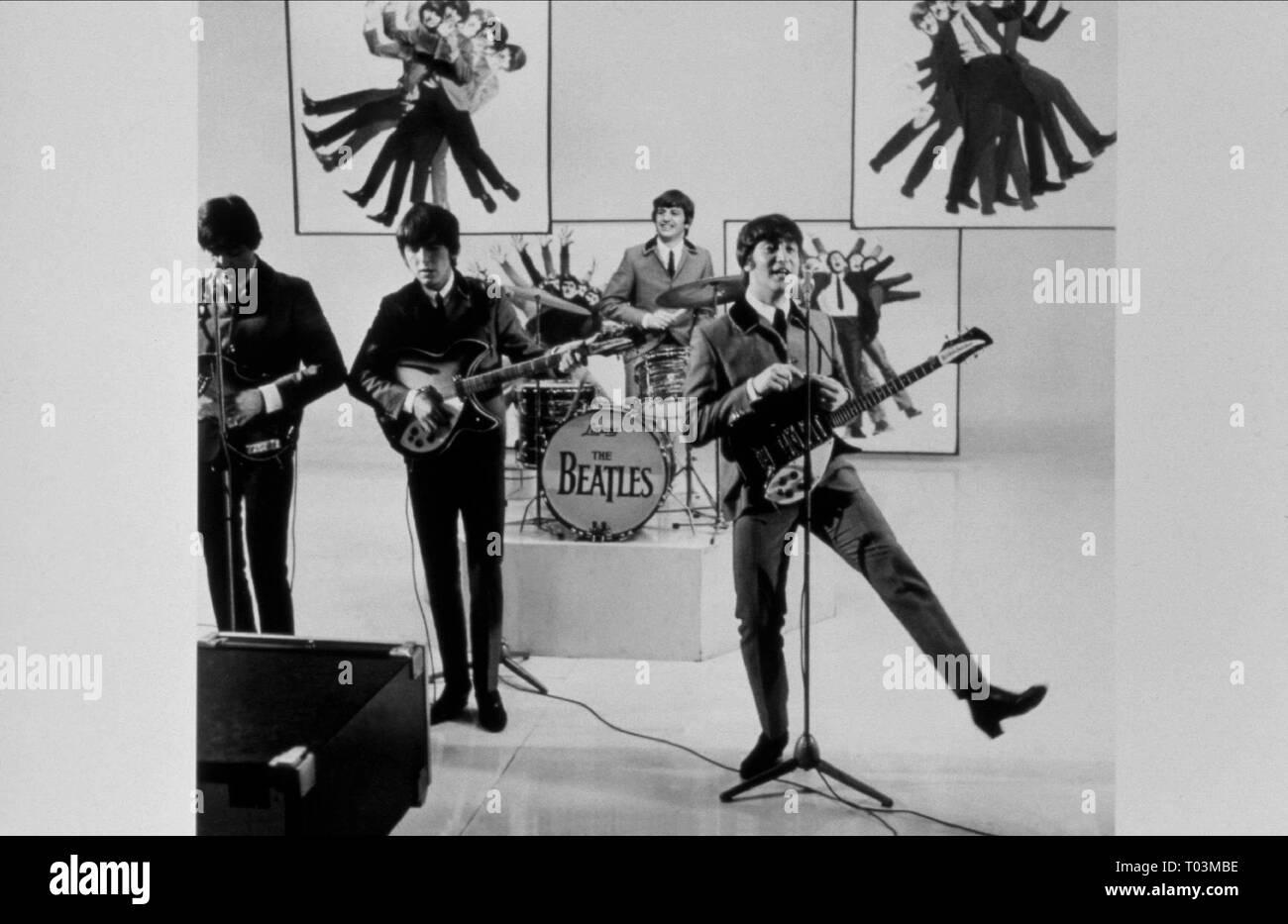 RINGO STARR, GEORGE HARRISON, JOHN LENNON, PAUL MCCARTNEY, A HARD DAY'S NIGHT, 1964 - Stock Image
