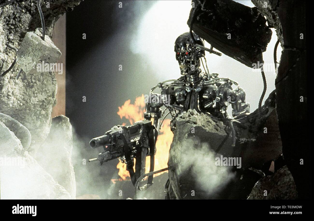TERMINATOR 2: JUDGMENT DAY, T-800, 1991 - Stock Image