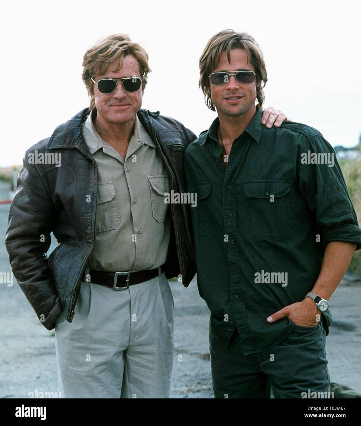 Robert Redford Brad Pitt Spy Game 2001 Stock Photo Alamy