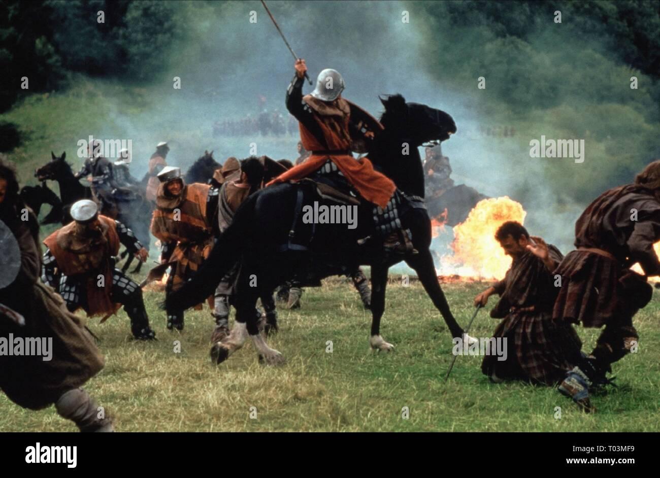 BATTLE SCENE, BRAVEHEART, 1995 - Stock Image