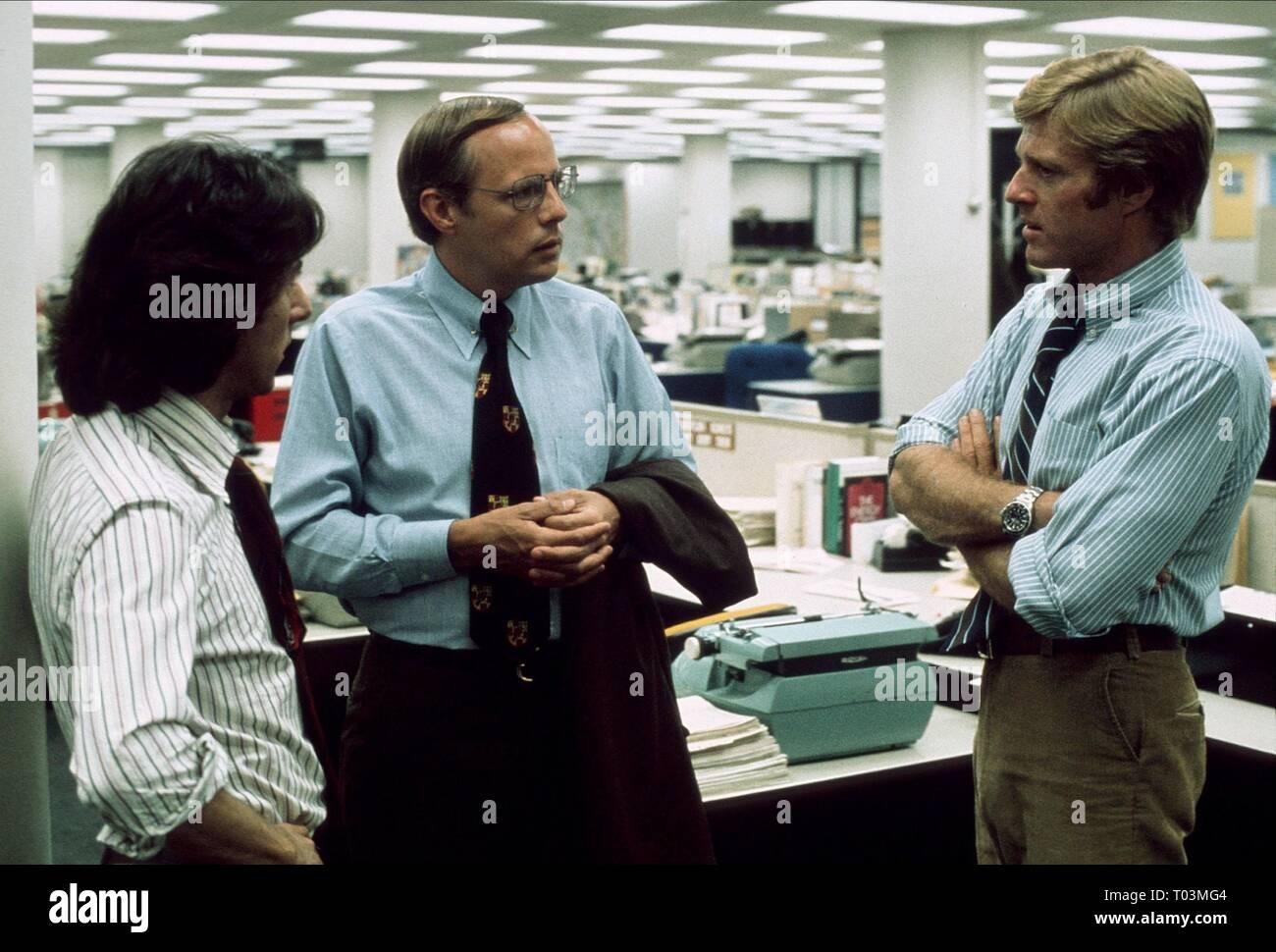 DUSTIN HOFFMAN, ROBERT REDFORD, ALL THE PRESIDENT'S MEN, 1976 - Stock Image
