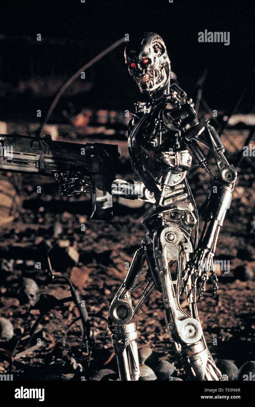 TERMINATOR 2: JUDGMENT DAY, T-800 ROBOT, 1991 - Stock Image