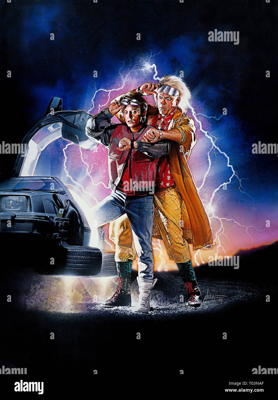 Movie Poster Back To The Future Part Ii 1989 Stock Photo Alamy