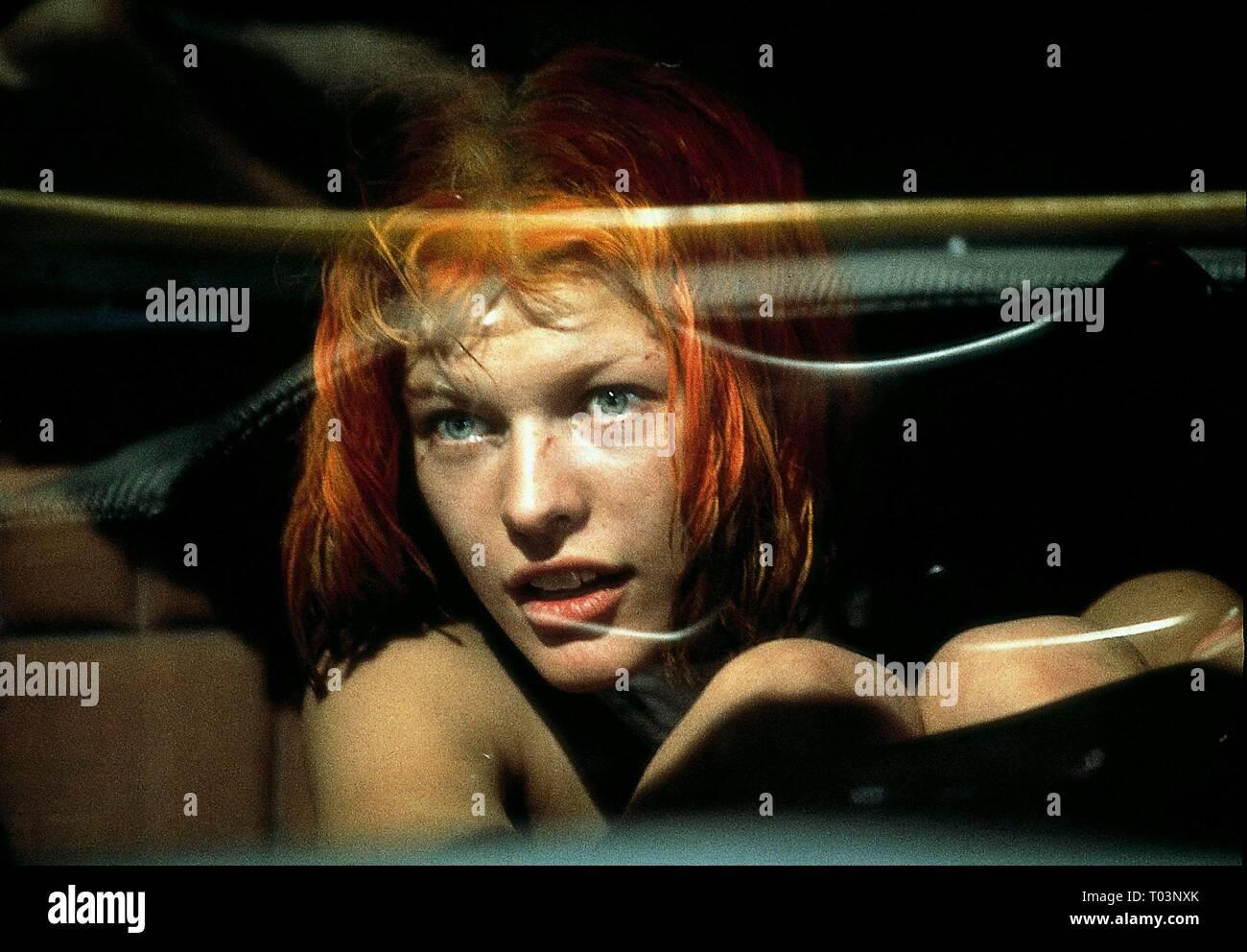 MILLA JOVOVICH, THE FIFTH ELEMENT, 1997 - Stock Image