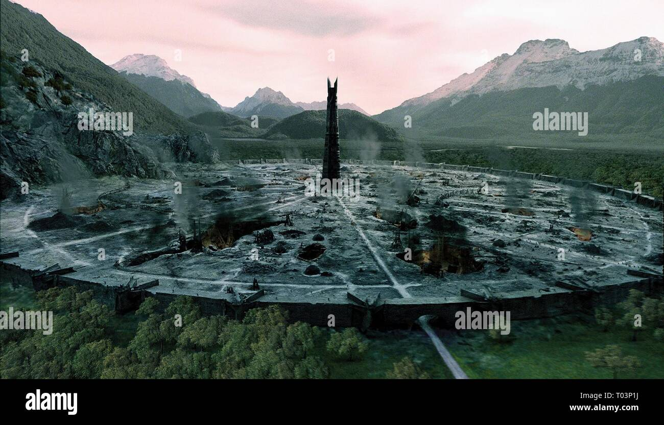 ISENGARD THE STRONGHOLD OF SARUMAN, THE LORD OF THE RINGS: THE TWO TOWERS, 2002 - Stock Image