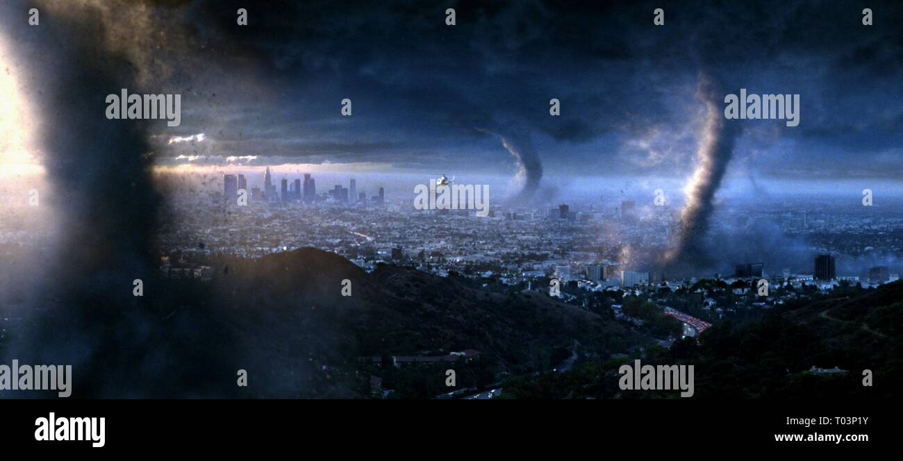 TORNADOES DESTROY LOS ANGELES, THE DAY AFTER TOMORROW, 2004 - Stock Image