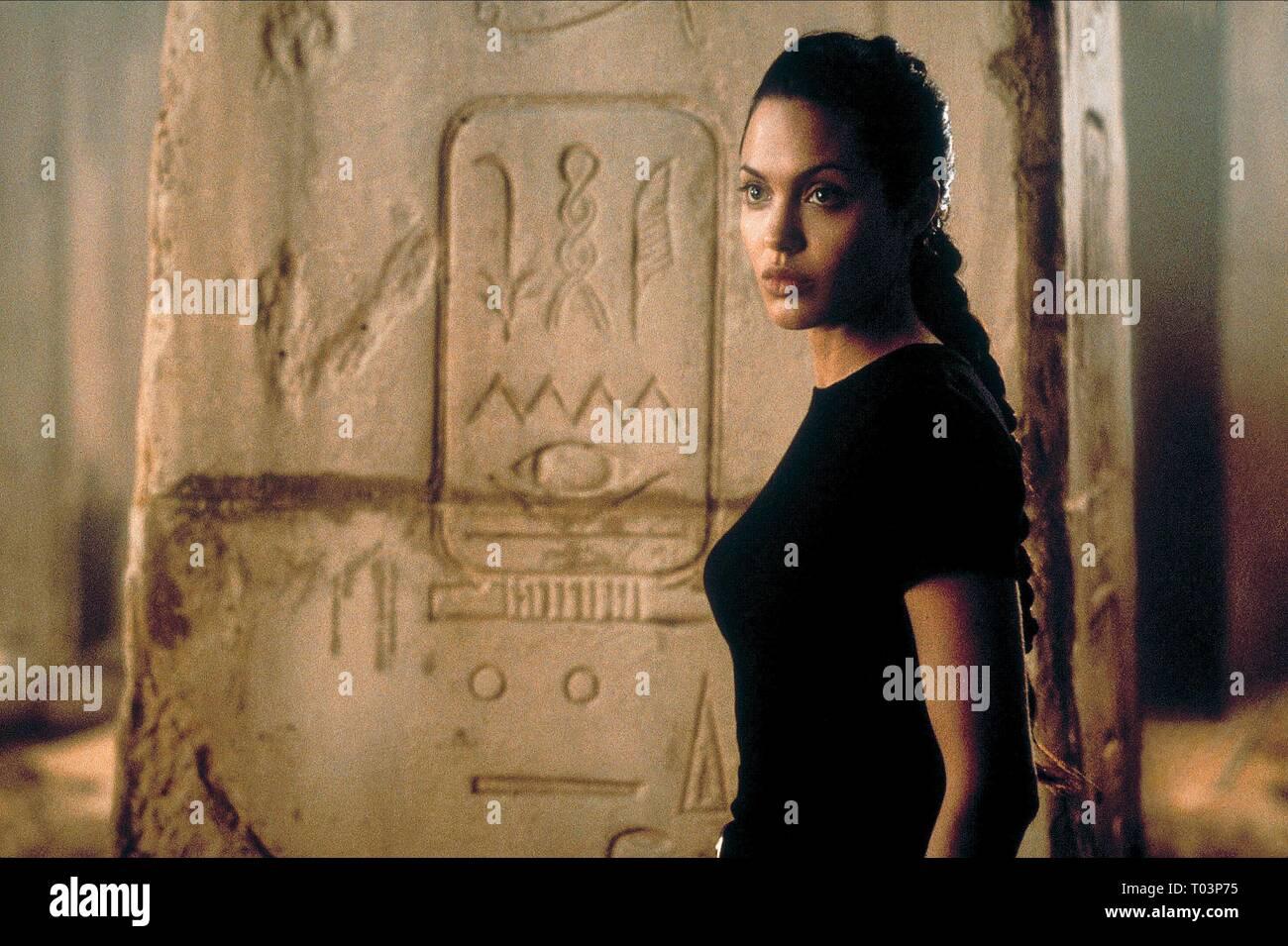 ANGELINA JOLIE, LARA CROFT: TOMB RAIDER, 2001 - Stock Image