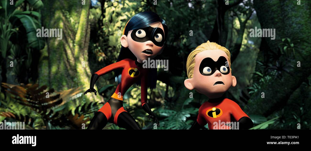 VIOLET PARR, DASH, THE INCREDIBLES, 2004 - Stock Image