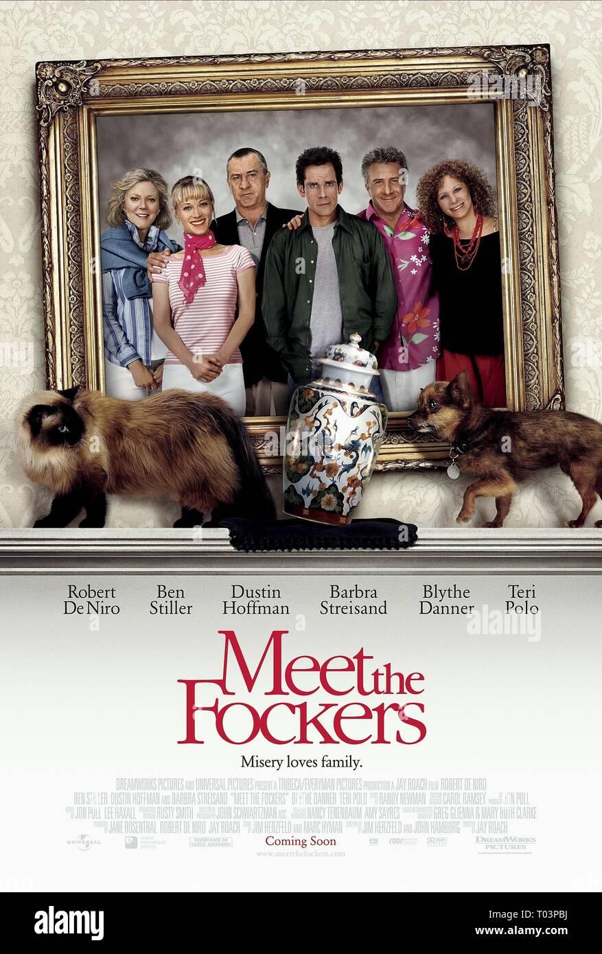 BLYTHE DANNER, TERI POLO, ROBERT DE NIRO, BEN STILLER, DUSTIN HOFFMAN, BARBRA STREISAND, MEET THE FOCKERS, 2004 - Stock Image