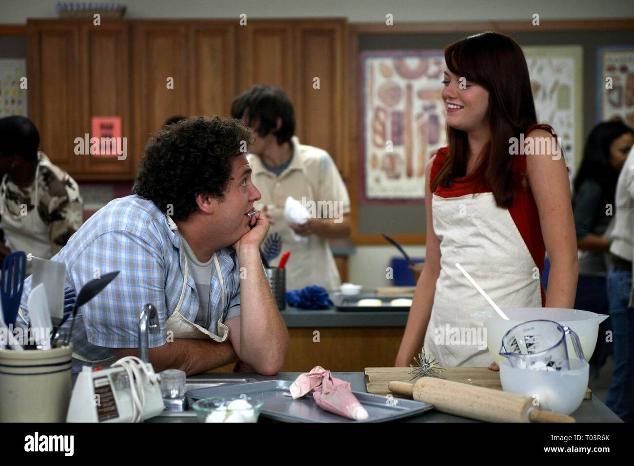 Jonah Hill Emma Stone Superbad 2007 Stock Photo Alamy