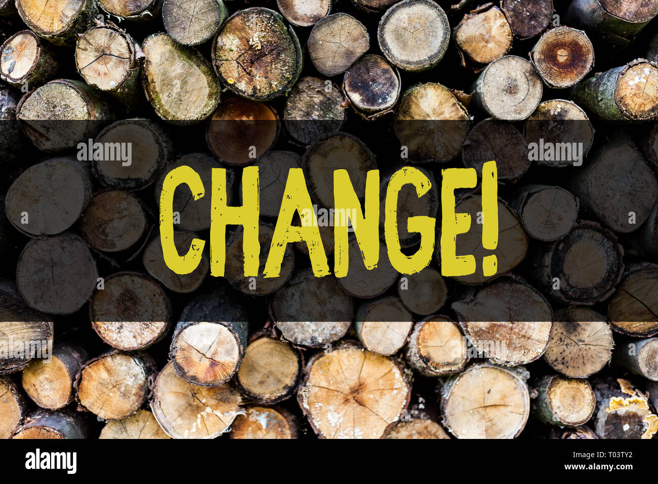 Word writing text Change. Business photo showcasing Alteration Adjustment Diversion Revision Transition Modification Wooden background vintage wood wi - Stock Image