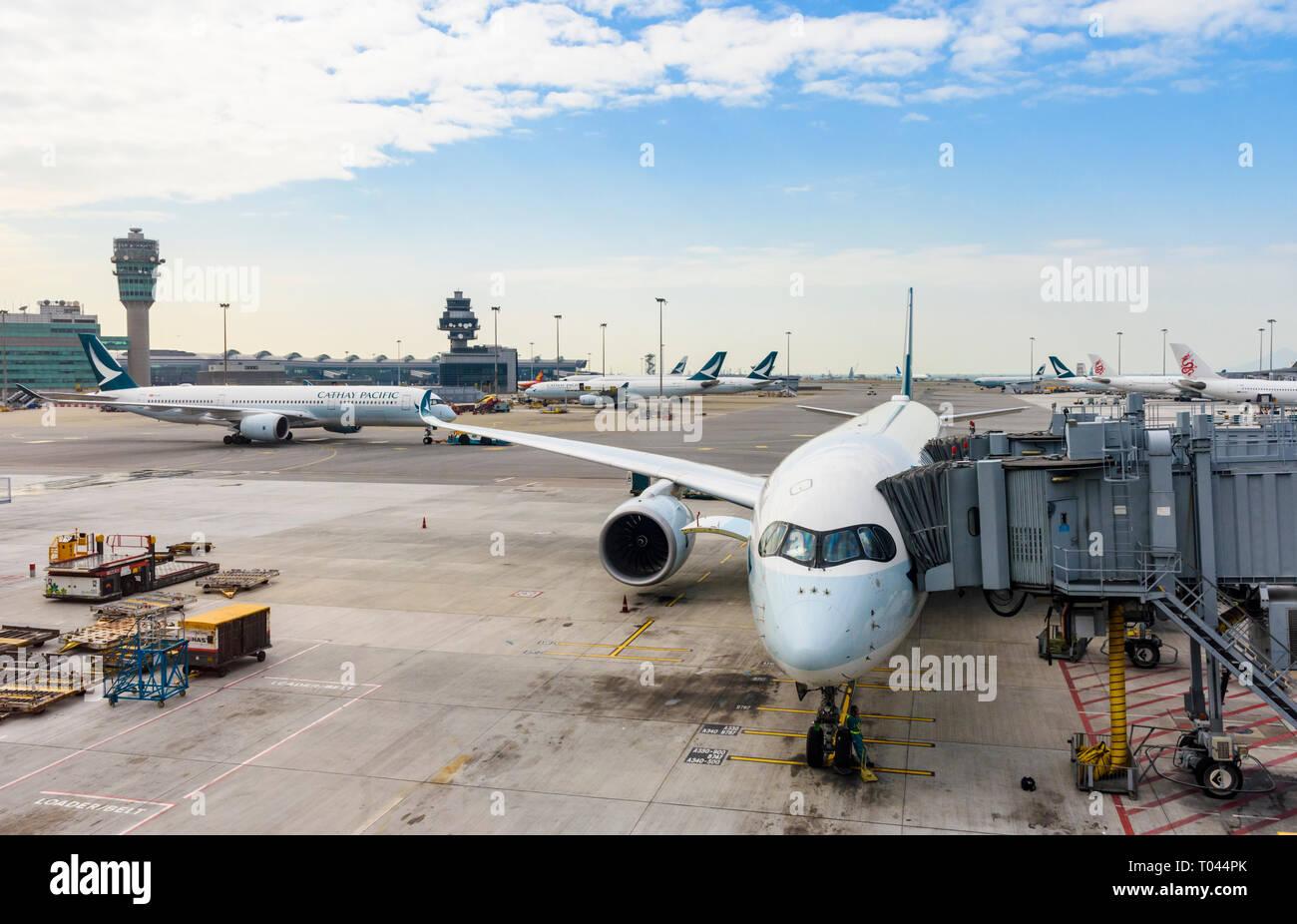 Hong Kong International Airport, Chek Lap Kok, Hong Kong - Stock Image
