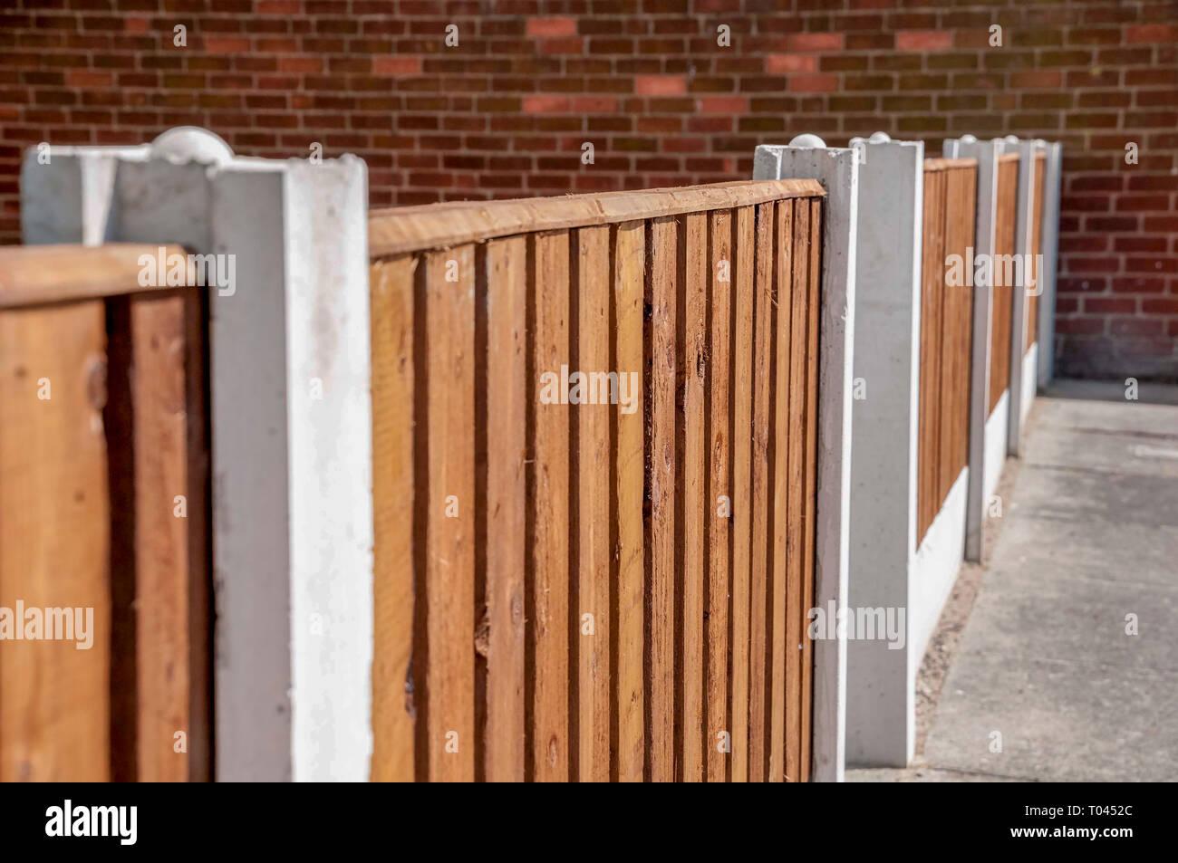 Concrete Fence Posts Stock Photos & Concrete Fence Posts