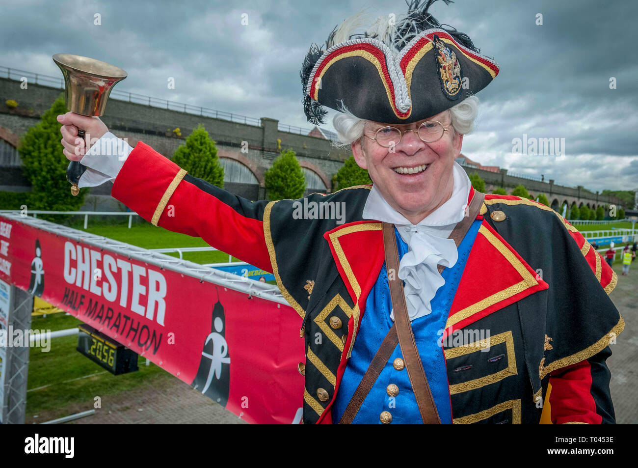 David Mitchell is the Town Crier of Chester - Stock Image