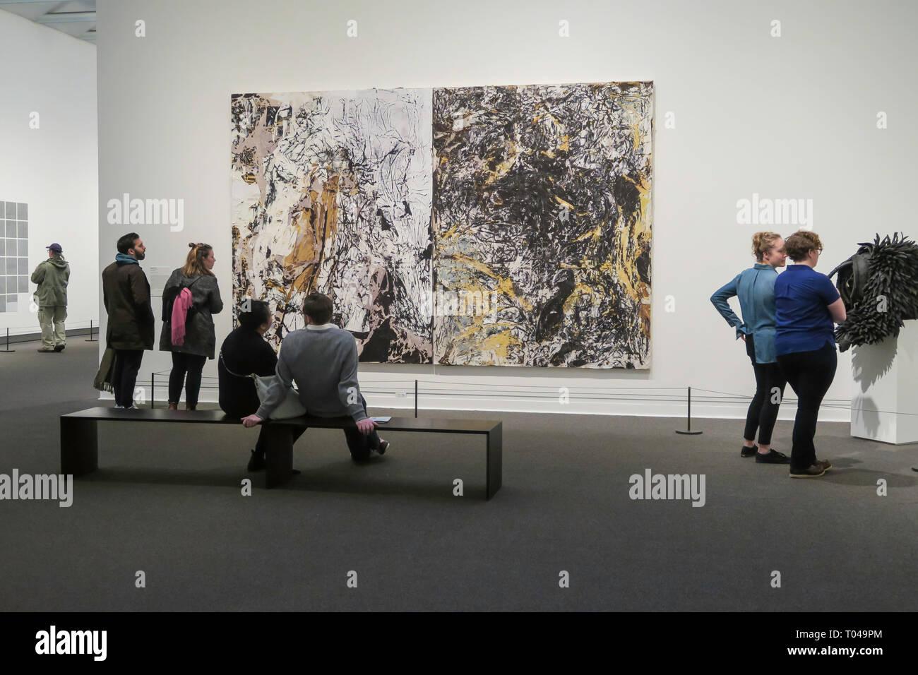 Epic Abstraction: Pollock to Herrera exhibit at the Metropolitan Museum of Art, New York City, USA - Stock Image