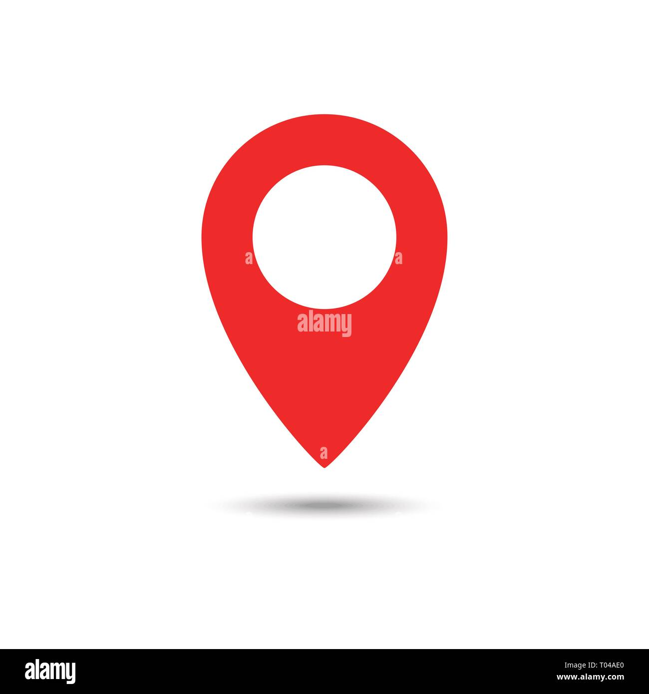 Red maps pin  Location map icon  Location pin  Pin icon
