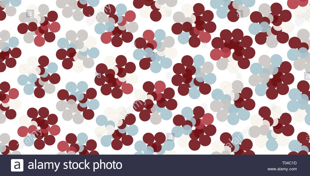 Creative abstract spirograph flower vector illustration background from spirals Stock Vector