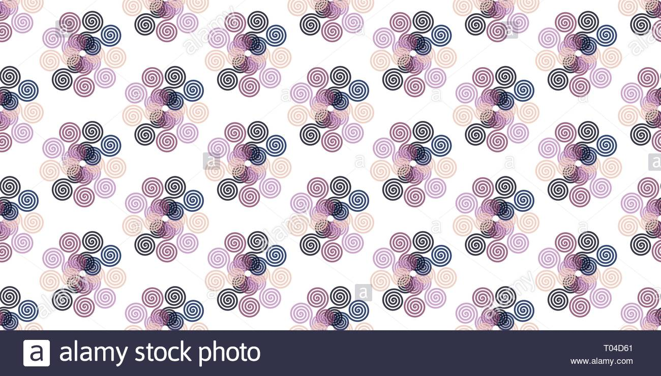 Creative abstract spirograph flower vector illustration background from spirals - Stock Image