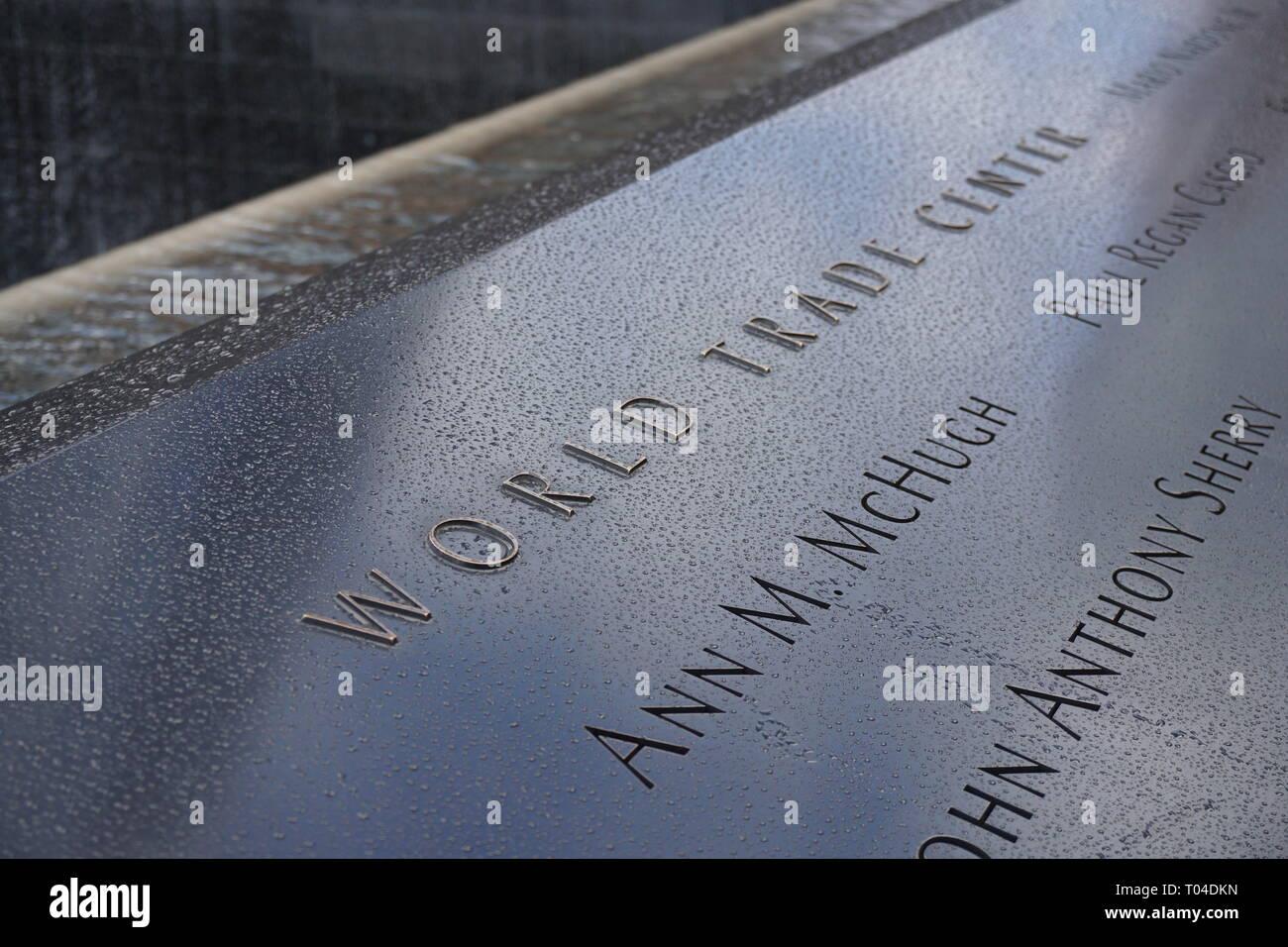 NEW YORK, USA - NOV 2018: World trade center, National September 11 Memorial and Museum - Stock Image