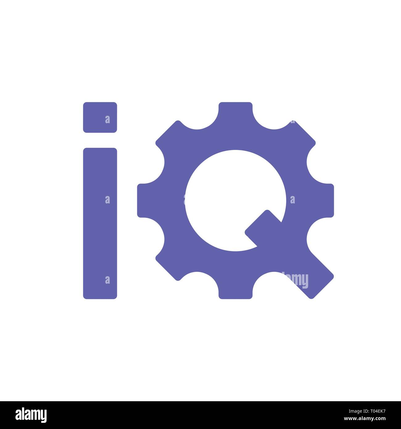 Initial Letter IQ Logo Lowercase colorful design, Modern and Simple Logo Design. EPS 10 - Stock Image