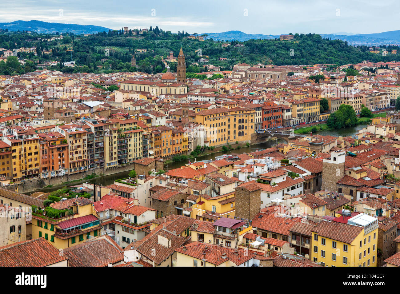 Florence, Tuscany, Italy seen from the Palazzo Vecchio. - Stock Image