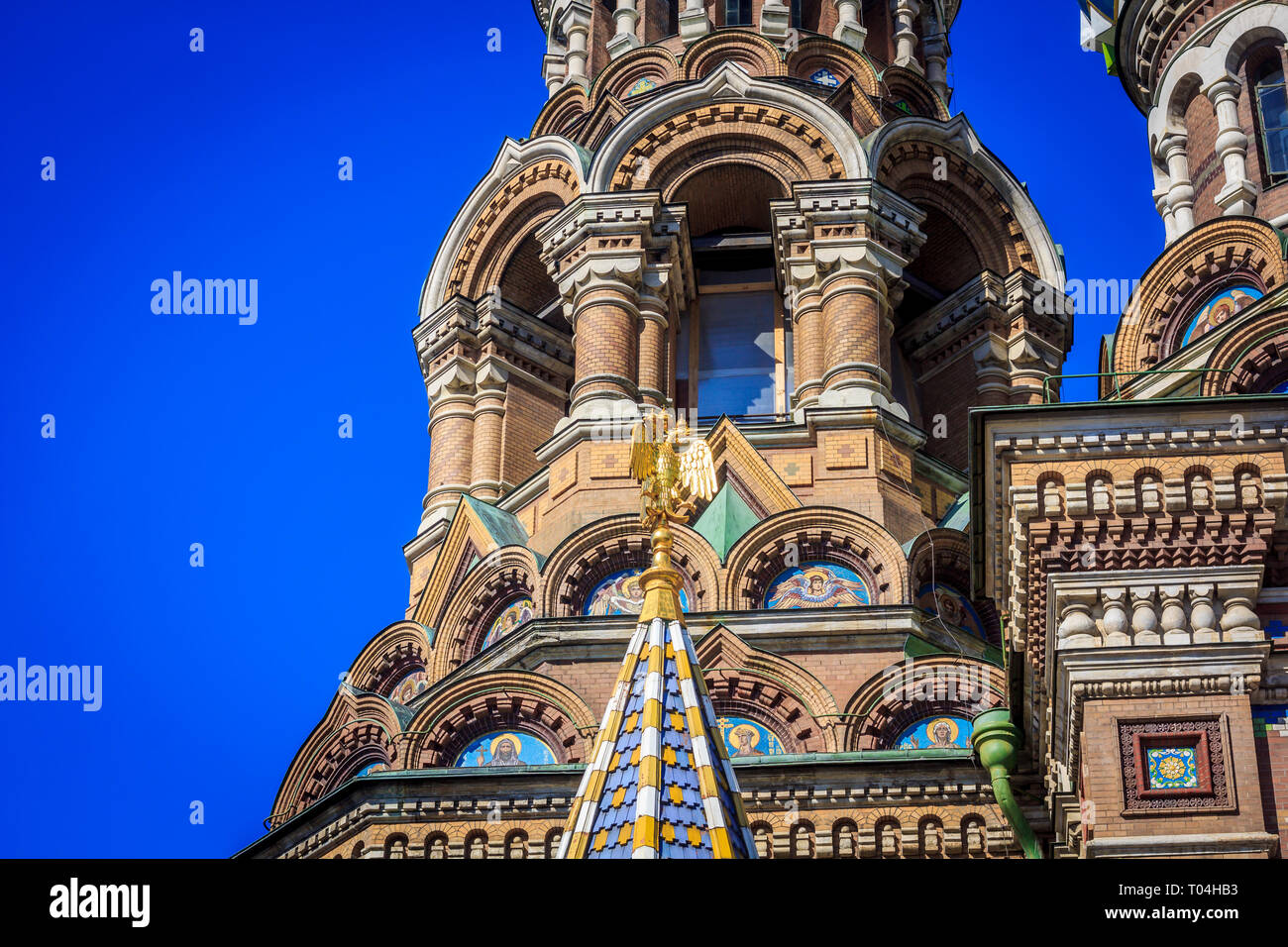 Savior - on - Blood Temple. Temple in Russia. Orthodox religion. April 23, 2018, Russia, St. Petersburg. - Stock Photo