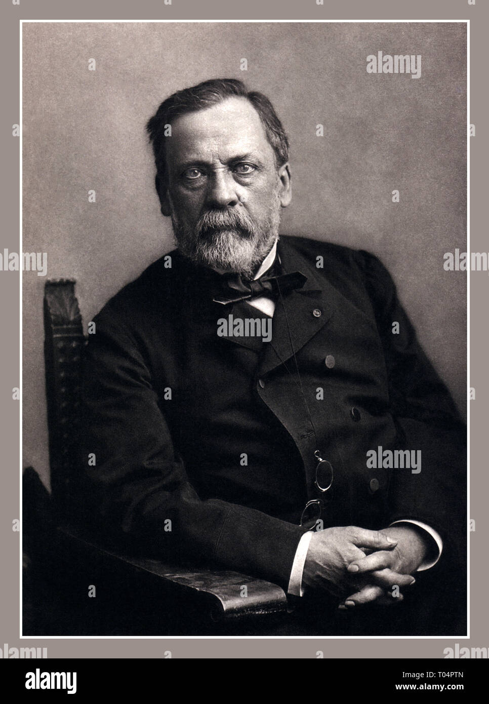 LOUIS PASTEUR Historic studio portrait by renowned innovative French photographer Nadar of Louis Pasteur 1822-1895 A leading French chemist, scientist and microbiologist. Louis Pasteur is commonly credited with being one of the scientists who proved the existence of living organisms too small for the human eye to see. - Stock Image