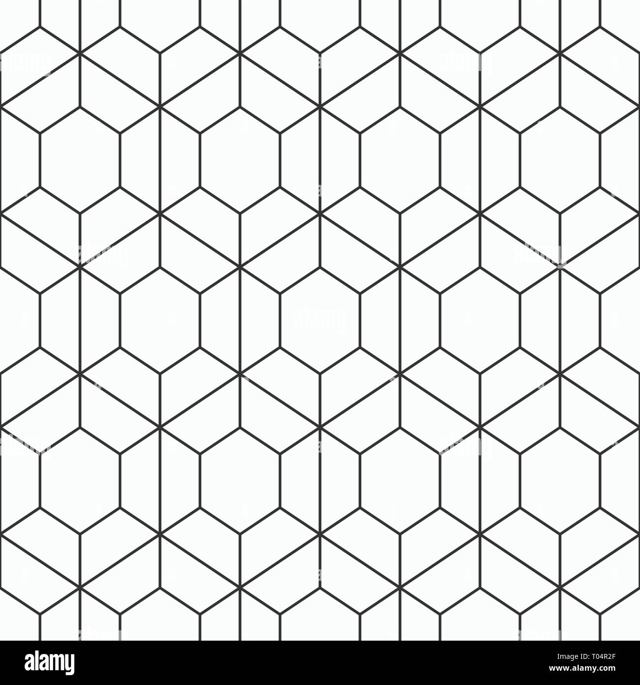 Vector seamless geometric pattern of hexagons  Modern