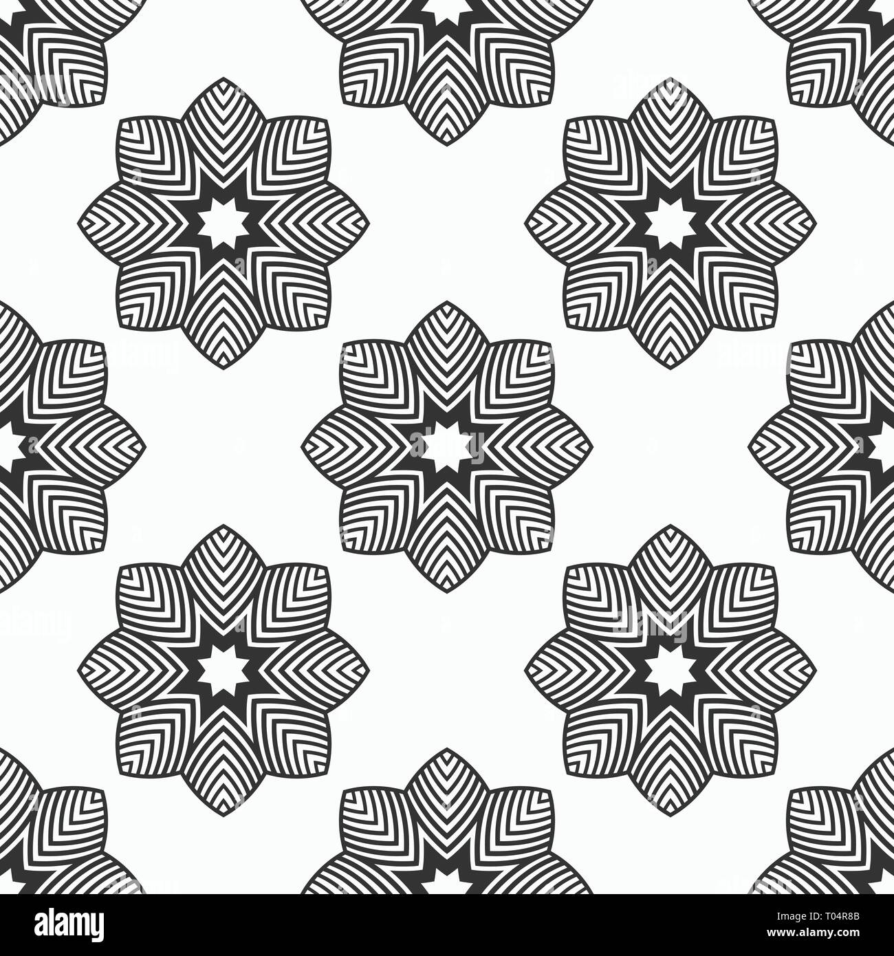 Abstract Seamless Pattern Regularly Repeating Stylized