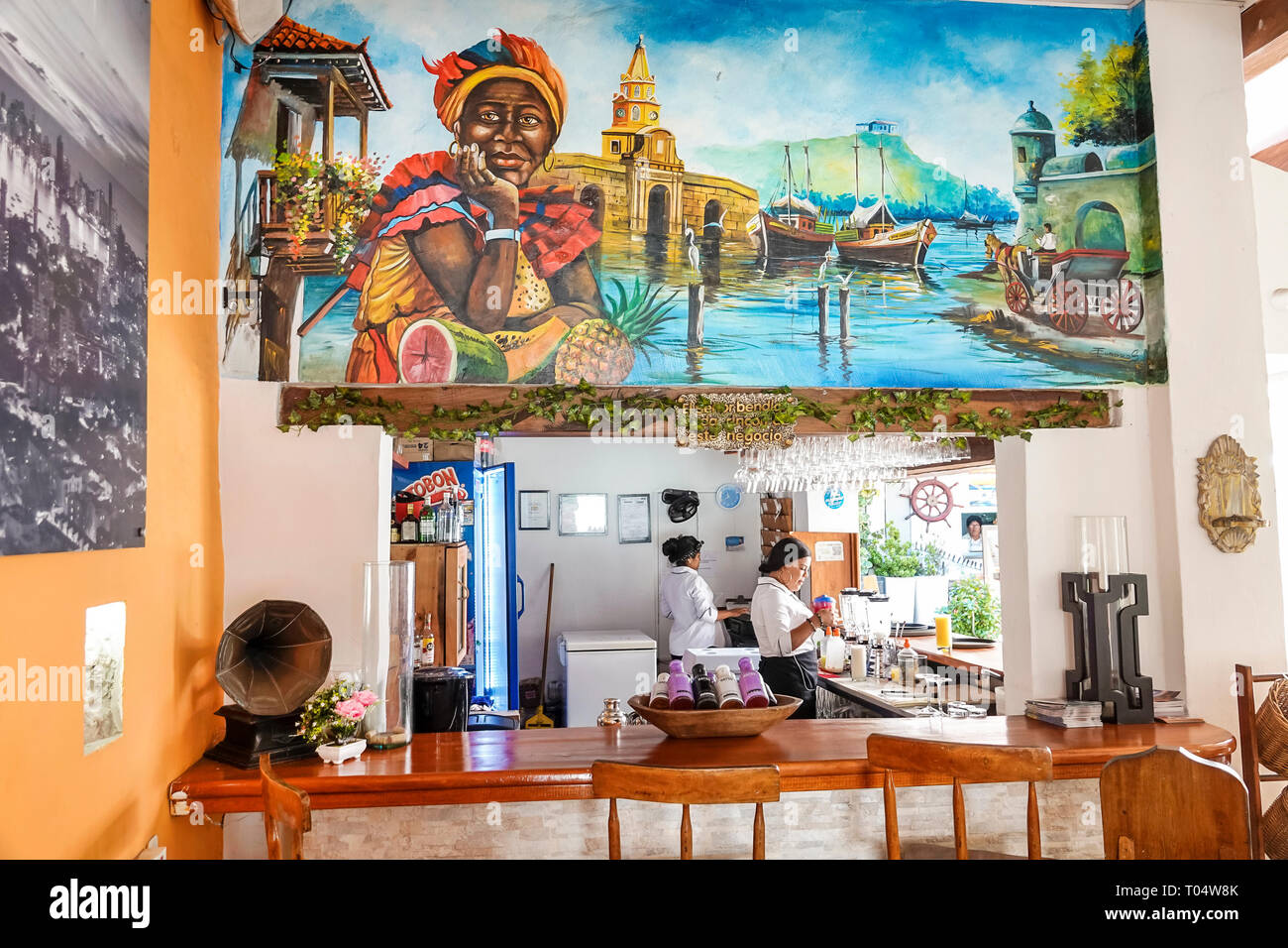 Colombia, Cartagena, Old Walled City Center centre, San Diego, Hispanic Hispanics Latin Latino Latinos ethnic ethnics immigrant immigrants minority mi Stock Photo