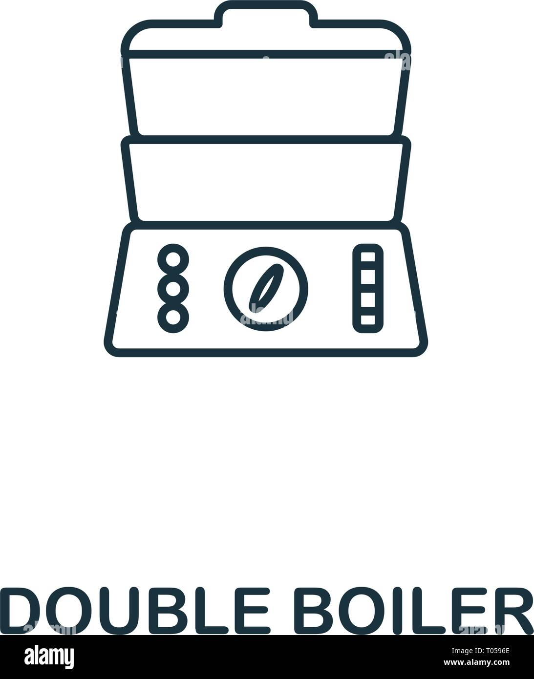 Double Boiler icon. Thin style design from household icons collection. Creativedouble boiler icon for web design, apps, software, print usage - Stock Image