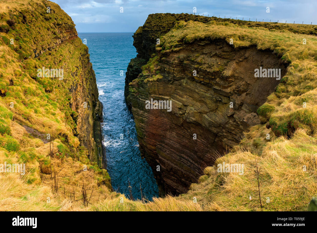 The Geo of Sclaites at Duncansby Head, Caithness, Scotland, UK - Stock Image