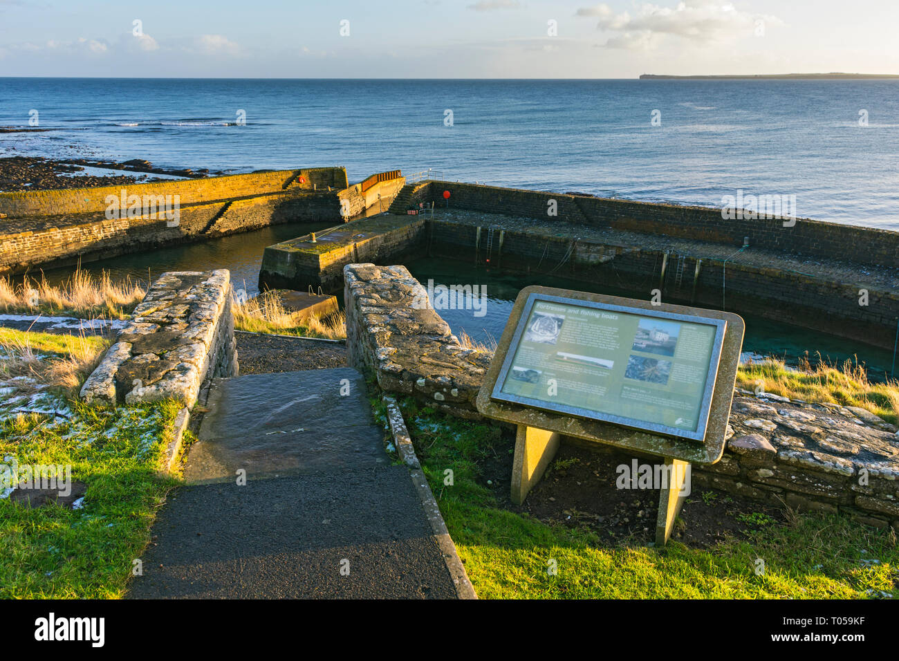 The harbour at Keiss, built c1820.  Caithness, Scotland, UK - Stock Image