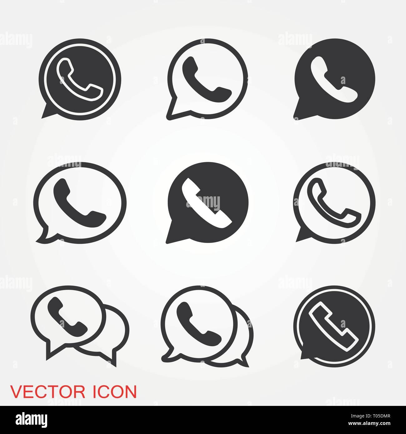 Telephone Icon Whatsapp Icon Vector Sign Symbol For Design Stock Vector Image Art Alamy