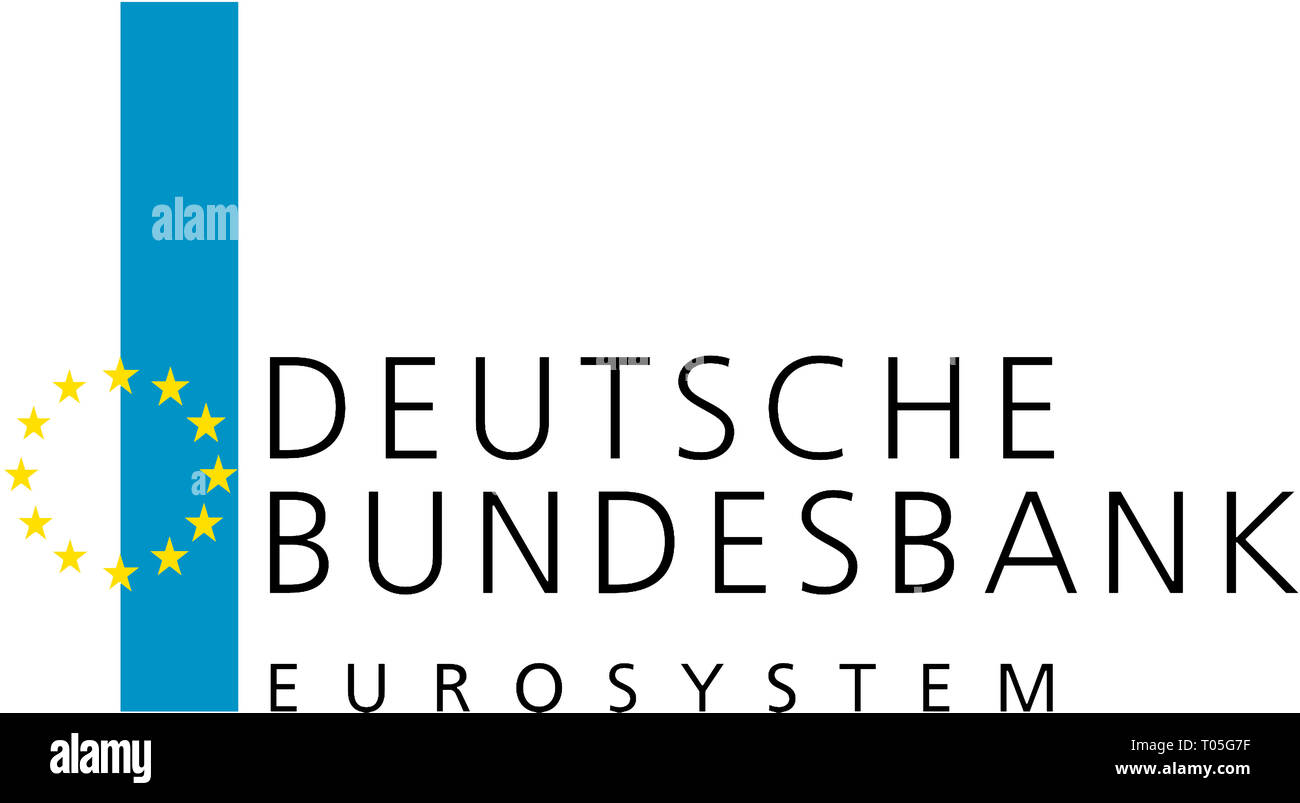 Comapny logo of the Deutsche Bundesbank based in Frankfurt am Main - Germany. Stock Photo