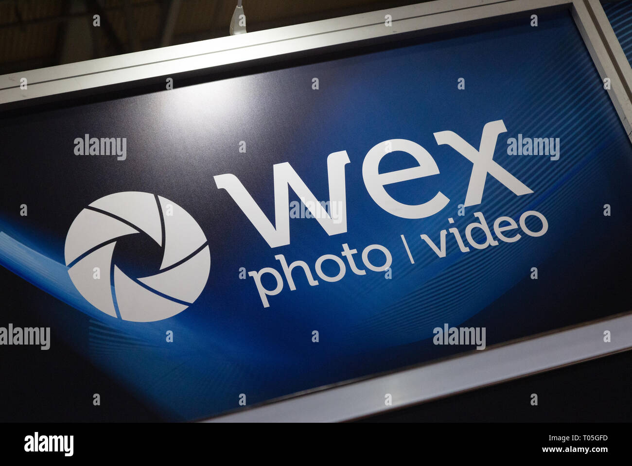 Wex Photo Video Norwich sign - formerly Wex Photographic, a photographic retailer based in Norwich, UK - Stock Image