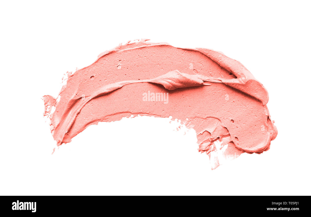 Makeup smear of creamy lipstic - Stock Image