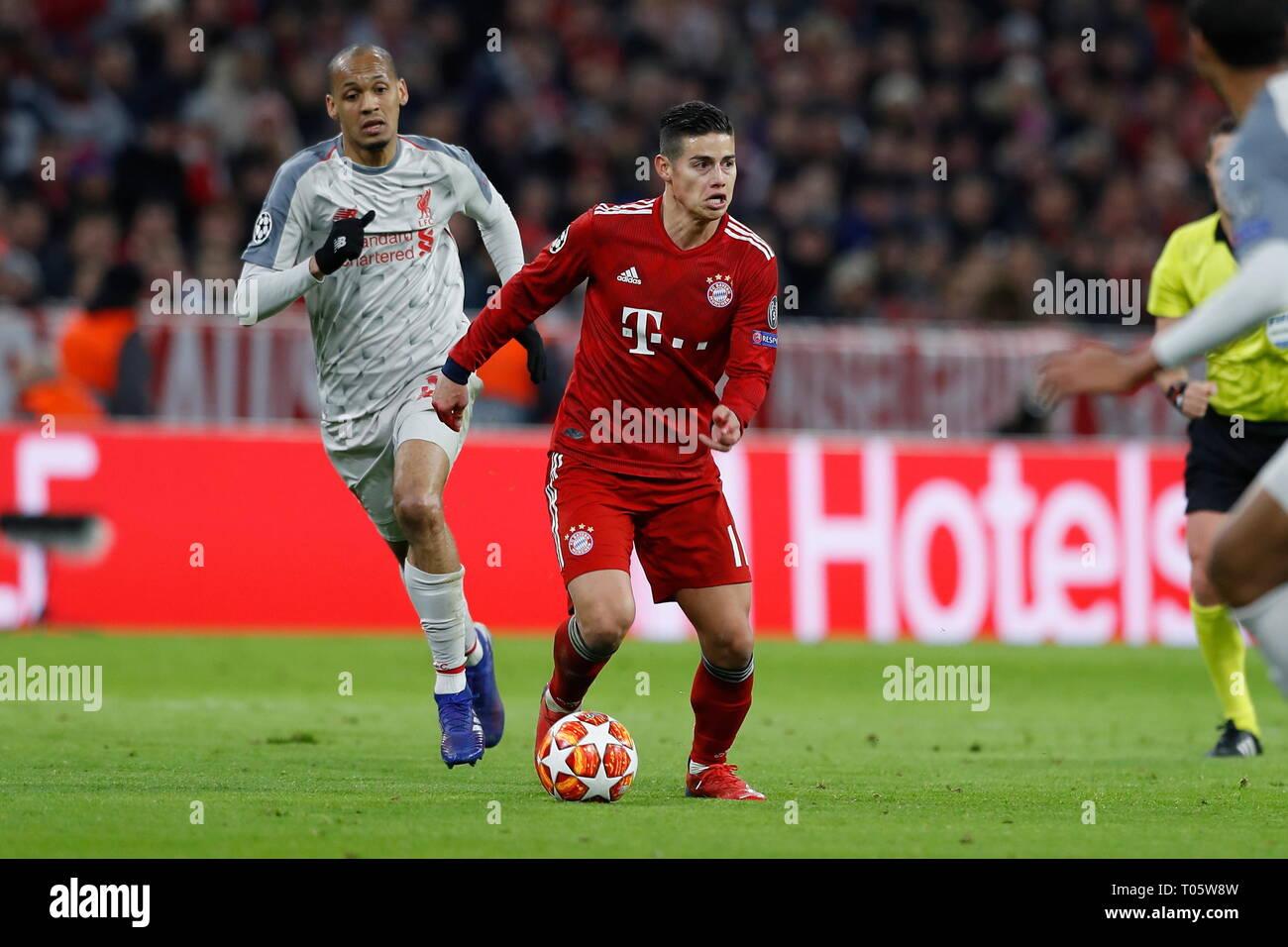 Munich Germany 13th Mar 2019 James Rodriguez Bayern