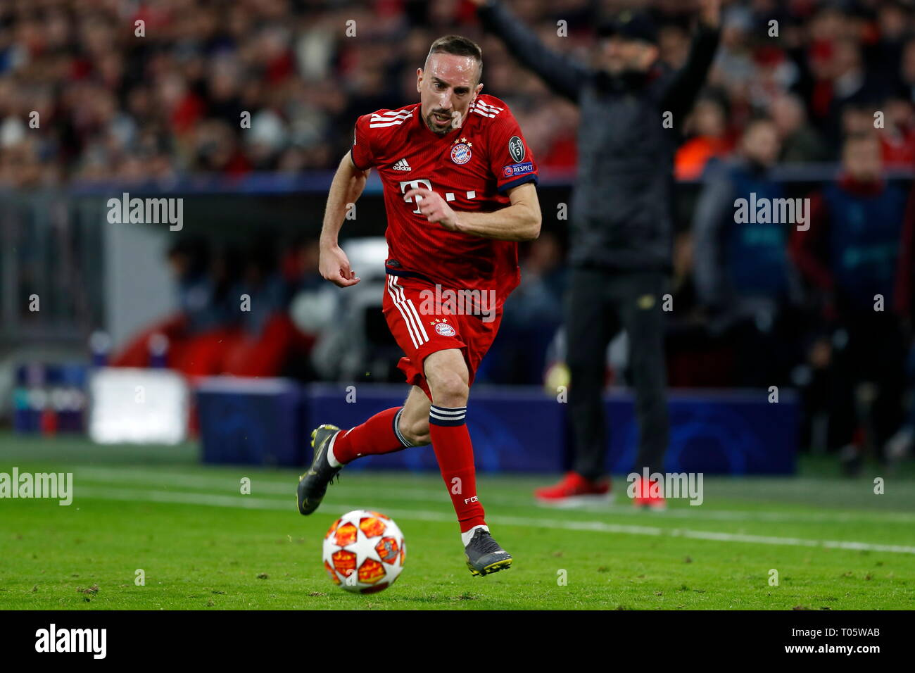 Munich Germany 13th Mar 2019 Franck Ribery Bayern