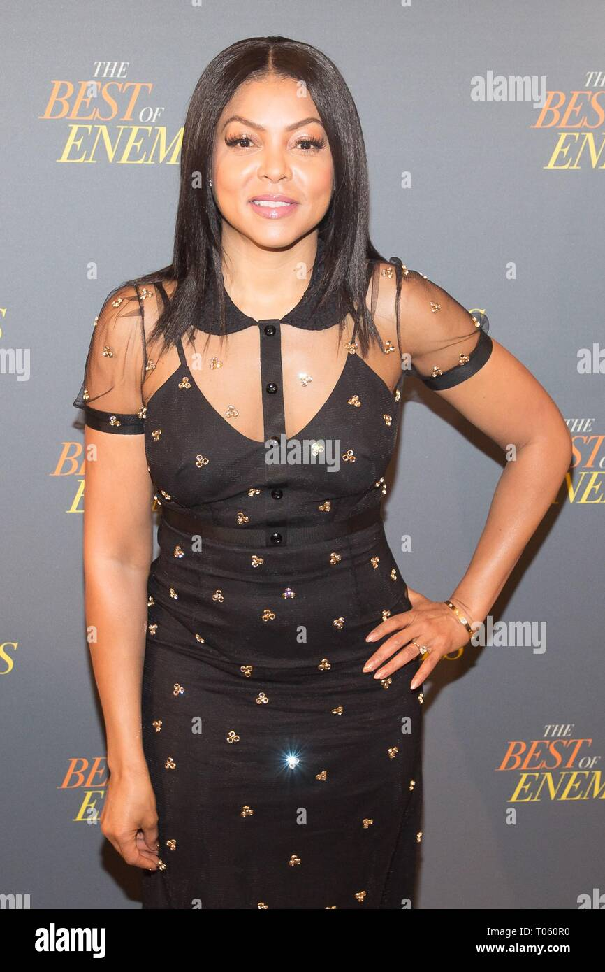 New York, USA. 17th Mar, 2019. Taraji P. Henson at arrivals for THE BEST OF ENEMIES Photo Call, The Whitby Hotel Theater, New York, NY March 17, 2019. Credit: Jason Smith/Everett Collection/Alamy Live News - Stock Image
