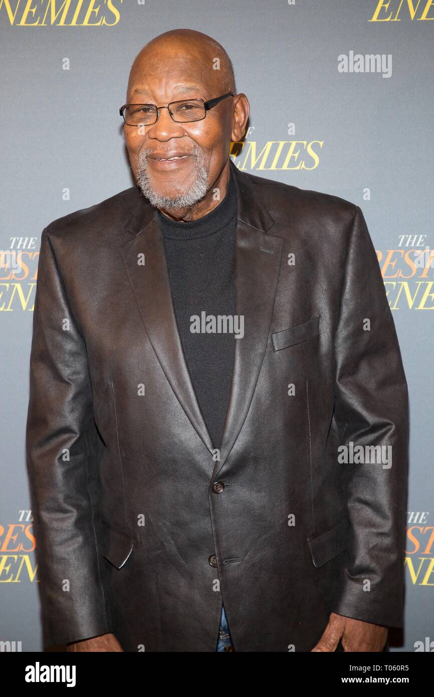 New York, USA. 17th Mar, 2019. Bill Riddick at arrivals for THE BEST OF ENEMIES Photo Call, The Whitby Hotel Theater, New York, NY March 17, 2019. Credit: Jason Smith/Everett Collection/Alamy Live News - Stock Image