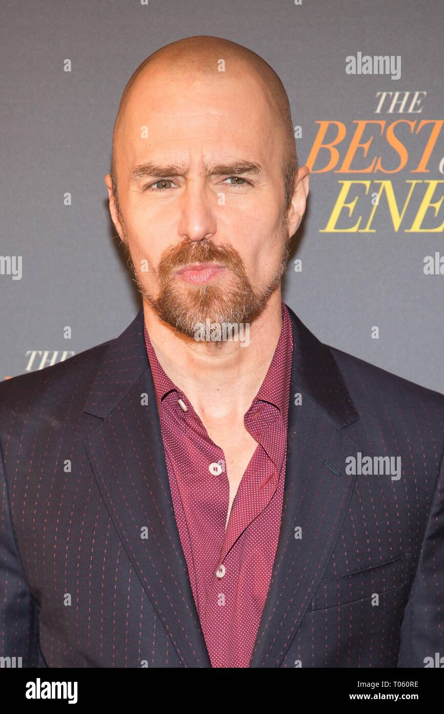 New York, USA. 17th Mar, 2019. Sam Rockwell at arrivals for THE BEST OF ENEMIES Photo Call, The Whitby Hotel Theater, New York, NY March 17, 2019. Credit: Jason Smith/Everett Collection/Alamy Live News - Stock Image
