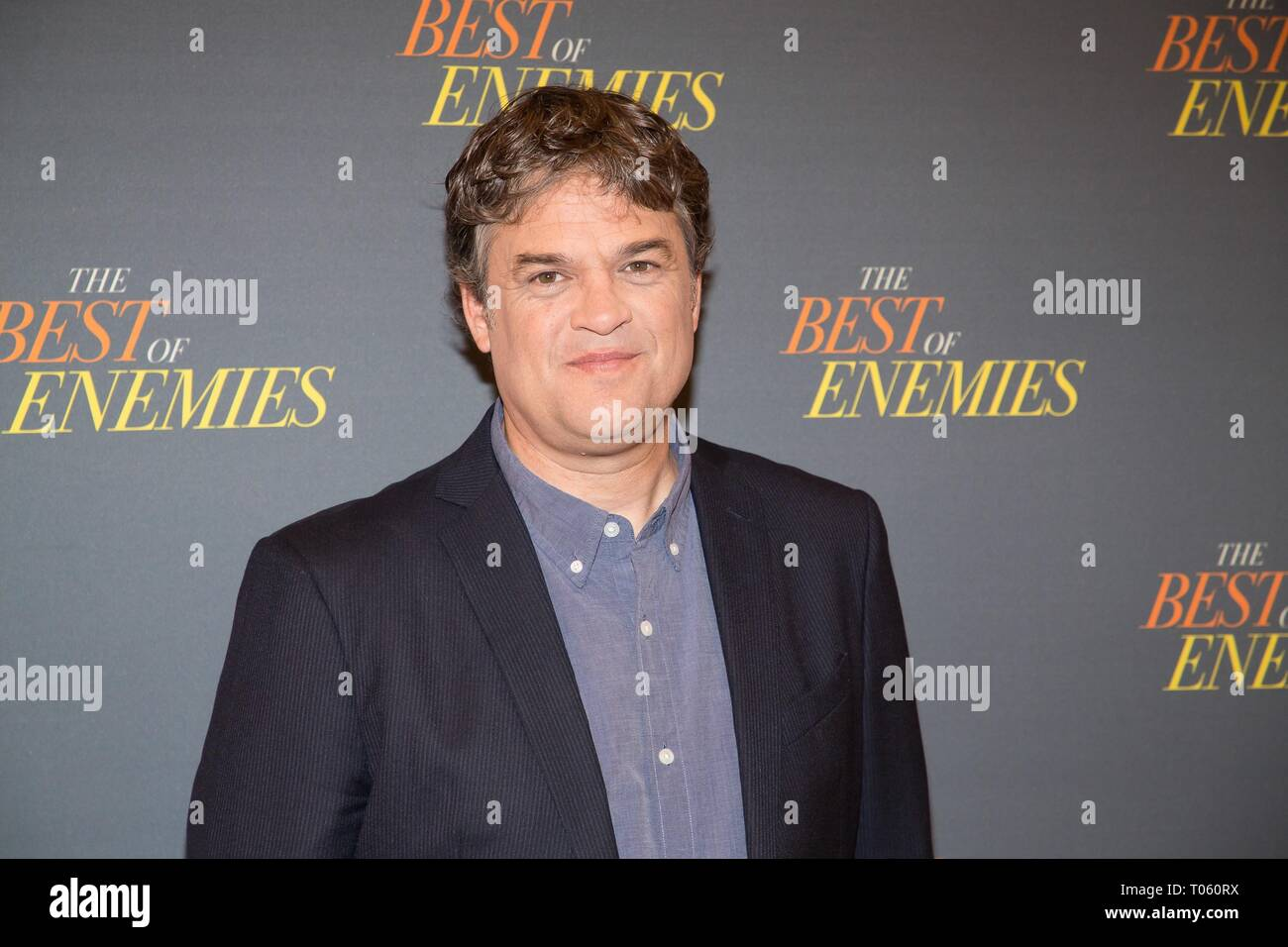 New York, USA. 17th Mar, 2019. Robin Bissell at arrivals for THE BEST OF ENEMIES Photo Call, The Whitby Hotel Theater, New York, NY March 17, 2019. Credit: Jason Smith/Everett Collection/Alamy Live News - Stock Image