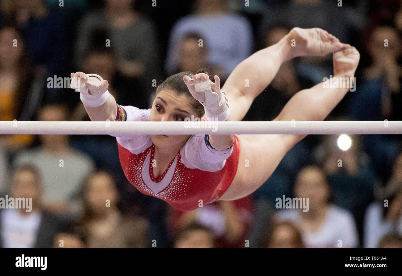 Stuttgart, Germany. 17th Mar, 2019. Gymnastics, World Cup