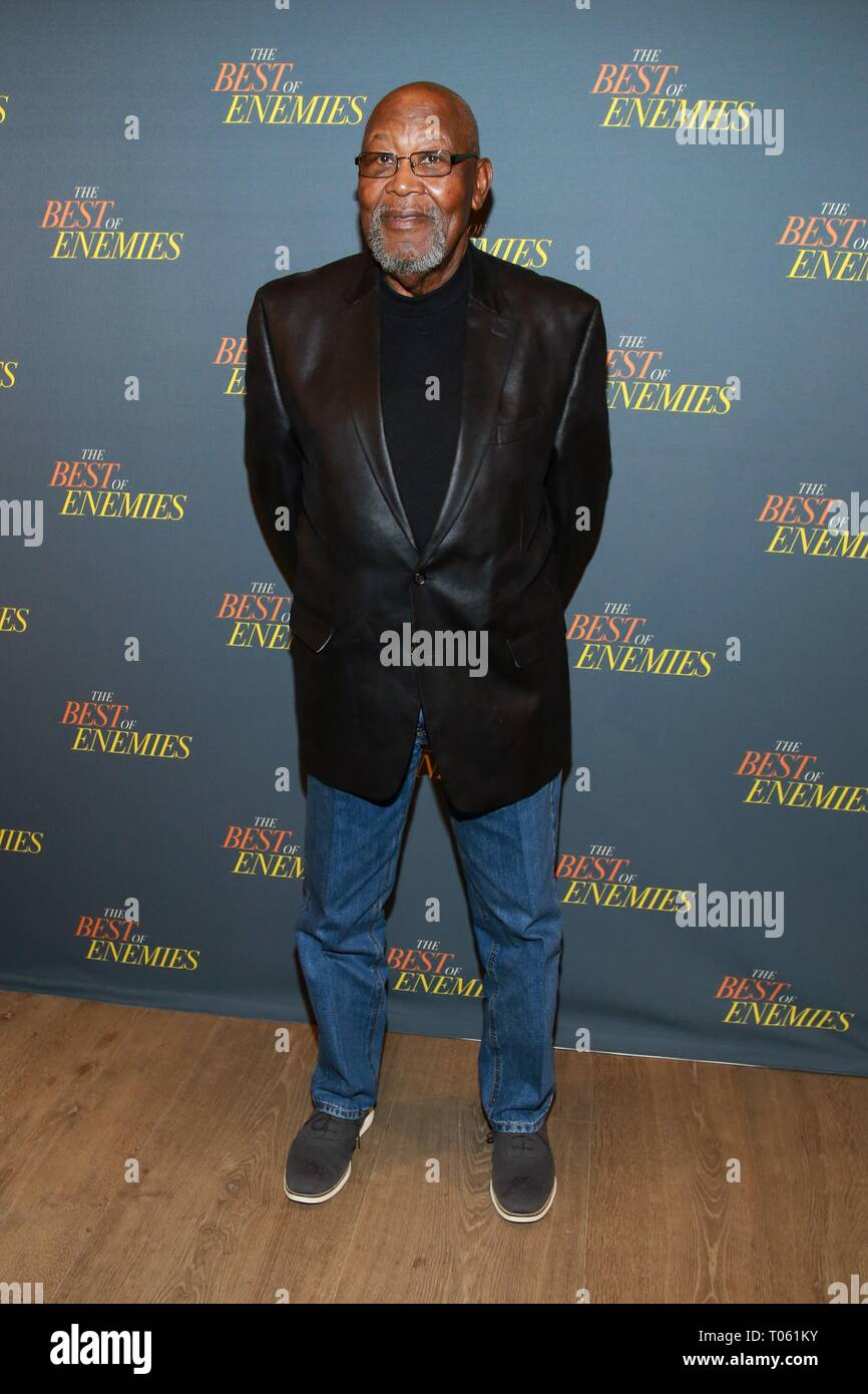 New York, USA. 17th Mar, 2019. Bill Riddick at arrivals for THE BEST OF ENEMIES Photo Call, The Whitby Hotel Theater, New York, NY March 17, 2019. Credit: Jason Mendez/Everett Collection/Alamy Live News - Stock Image