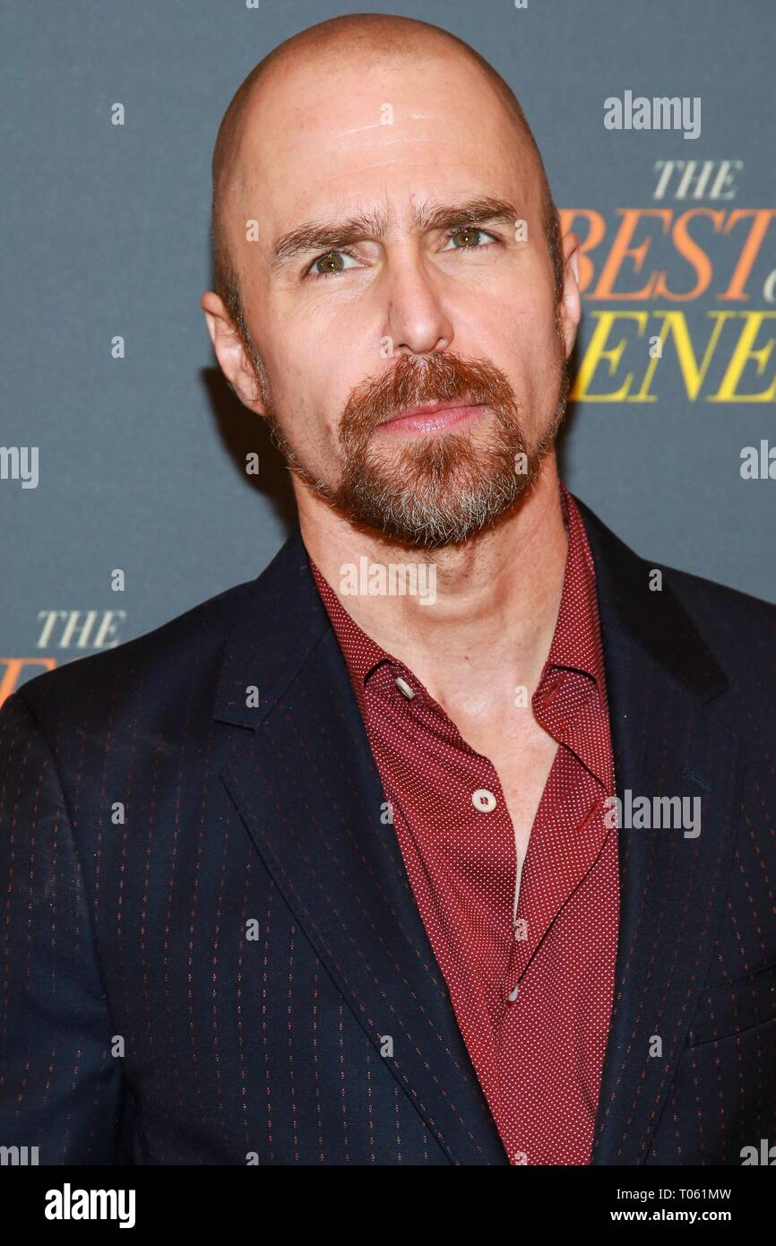 New York, USA. 17th Mar, 2019. Sam Rockwell at arrivals for THE BEST OF ENEMIES Photo Call, The Whitby Hotel Theater, New York, NY March 17, 2019. Credit: Jason Mendez/Everett Collection/Alamy Live News - Stock Image